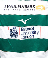 New shirt branding for the 2019/20 Season Friendly match between Ealing Trailfinders and Bishop's Stortford at Castle Bar , West Ealing , England  on 24 August 2019. Photo by Alan  Stanford / PRiME Media images