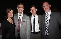 NWA Democrat-Gazette/CARIN SCHOPPMEYER Becky and Bob Alexander (from left), Joe Randel and John Owen attend the Gala for Education.