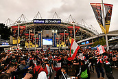 4th November 2017, Sydney Football Stadium, Sydney, Australia; Rugby League World Cup, England versus Lebanon; Lebanon fans outside the stadium before kick off