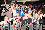 Great cheers on Thursday night in the Greyhound Bar as the crowd toasted to Arthurs Day on Thursday night.