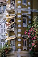 Asie/Inde/Maharashtra/Bombay: Les maisons victoriennes sur le front de mer