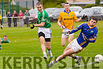 St. Kieran's Maurice Hickey gets past Feale's  goalie Brian Galvin to score a goal in the Senior County Championship St. Kierans V Feale Rangers at the Cordal GAA Ground on Saturday