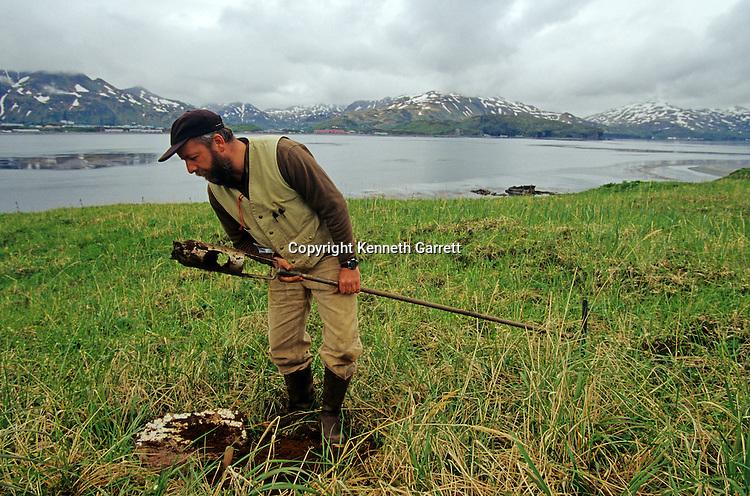 Rick Knecht; Alaska; Aleution Islands, excavation