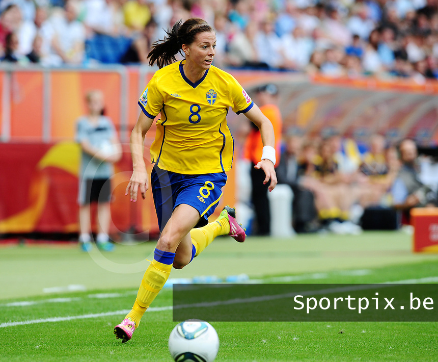Fifa Women's World Cup Germany 2011 : Zweden - France Frankrijk at Sinsheim World Cup stadium : Lotta Schelin.foto DAVID CATRY / Vrouwenteam.be