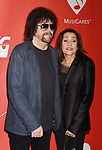 LOS ANGELES, CA - FEBRUARY 10: Musician-singer-songwriter Jeff Lynne (L) and wife Sani Kapelson Lynne attend MusiCares Person of the Year honoring Tom Petty at the Los Angeles Convention Center on February 10, 2017 in Los Angeles, California.