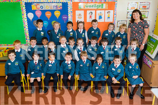 Brenda Burke's class of Junior Infants on their first day of School at Scoil Eoin Balloonagh NS on Wednesday.<br /> Front Row from Left - Jan Barcia Kremez, Kate Murphy, Gio Alcantara, Cian O Regan, Maura Casey, <br /> Aerin Dagasen, Patrick Foran, Mia Casey.<br /> Middle Row from Left - Finn Mc Kenzie, Jamie Quillinan, Mohammad Zakrit, Riah Bowler, Harry O' Mahony, Darragh Hanafin,<br /> C&aacute;it Healy, Jayden Mc Nally, Lily Moriarty, Tadhg Bailey, Eimear Thomas.<br /> Back Row from Left - Jack Lane, Ava O' Sullivan, Andy Wang,Annabel Slattery, Ryan O' Sullivan, R&oacute;is&iacute;n Mc Cathy, Hugh Brassil.