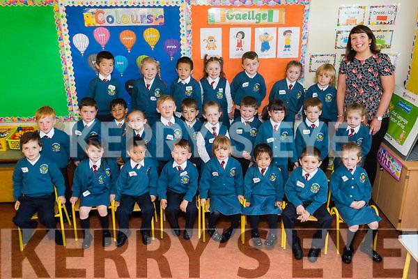Brenda Burke's class of Junior Infants on their first day of School at Scoil Eoin Balloonagh NS on Wednesday.<br /> Front Row from Left - Jan Barcia Kremez, Kate Murphy, Gio Alcantara, Cian O Regan, Maura Casey, <br /> Aerin Dagasen, Patrick Foran, Mia Casey.<br /> Middle Row from Left - Finn Mc Kenzie, Jamie Quillinan, Mohammad Zakrit, Riah Bowler, Harry O' Mahony, Darragh Hanafin,<br /> C&aacute;it Healy, Jayden Mc Nally, Lily Moriarty, Tadhg Bailey, Eimear Thomas.<br /> Back Row from Left - Jack Lane, Ava O' Sullivan, Andy Wang,Annabel Slattery, Ryan O' Sullivan, R&oacute;is&iacute;n Mc Cathy, Hugh Brassil.