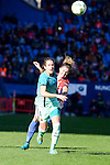 "Atletico de Madrid Mª Pilar ""Mapi"" Leon and FC Barcelona Marta Unzue during match of La Liga Femenina between Atletico de Madrid and FC Barcelona at Vicente Calderon Stadium in Madrid, Spain. December 11, 2016. (ALTERPHOTOS/BorjaB.Hojas)"