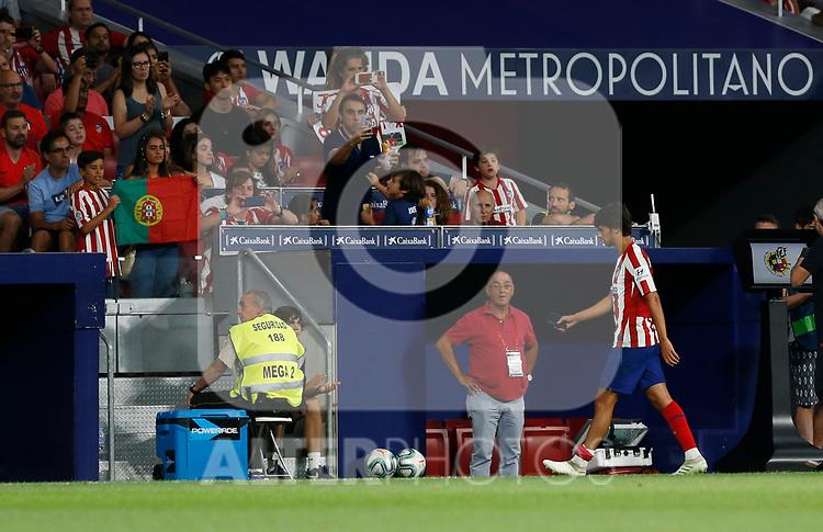 Atletico de Madrid's Joao Felix during La Liga match. Aug 18, 2019. (ALTERPHOTOS/Manu R.B.)Atletico de Madrid's Joao Felix  during the Spanish La Liga match between Atletico de Madrid and Getafe CF at Wanda Metropolitano Stadium in Madrid, Spain