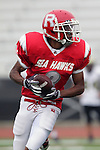 Redondo Beach, CA 10/14/10 - unknown Redondo Uion JV football player in action during the Peninsula vs Redondo Junior Varsity football game at Redondo Union HIgh School.
