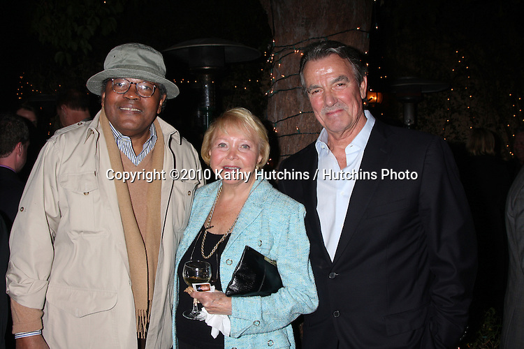 Clarence Williams III , Lee Bell, & Eric Braeden.at the Eric Braeden's 30th Anniversary on The Young & The Restless Cocktail Reception .Pane e Vino Resturant.Los Angeles, CA.February 3, 2010.©2010 Kathy Hutchins / Hutchins Photo..Publicist & Braeden Approved....