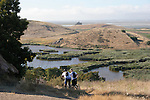 Bike riders at Coyote Hills Regional Park
