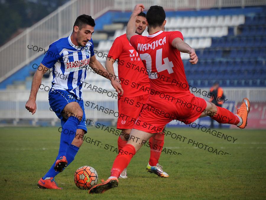 Fudbal Jelen Super League season 2016-2017<br /> Novi Pazar v Javor<br /> Nikola Dimitrijevic (L) i Aleksa Amanovic (D)<br /> Novi Pazar, 26. 11. 2016<br /> foto: Emir Sadovic/Starsportphoto &copy;