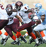 09 September 2006: Virginia Tech's Eddie Royal (4) rushes the ball. The University of North Carolina Tarheels lost 35-10 to the Virginia Tech Hokies at Kenan Stadium in Chapel Hill, North Carolina in an Atlantic Coast Conference NCAA Division I College Football game.