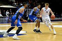 GRONINGEN - Basketbal, Donar - Landstede Zwolle, Supercup seizoen 2017-2018, 05-10-2017, Donar speler Evan Bruinsma met Landstede speler Sherron Dorsey-Walker