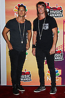 LOS ANGELES, CA, USA - MAY 01: Chris Stafford, Matt Stafford, Stafford Brothers in the press room at the iHeartRadio Music Awards 2014 held at The Shrine Auditorium on May 1, 2014 in Los Angeles, California, United States. (Photo by Celebrity Monitor)