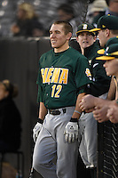 Siena Saints infielder Justin Esquerra (12) before the opening game of the season against the UCF Knights on February 13, 2015 at Jay Bergman Field in Orlando, Florida.  UCF defeated Siena 4-1.  (Mike Janes/Four Seam Images)