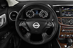 Car pictures of steering wheel view of a 2018 Nissan Pathfinder Platinum 5 Door SUV Steering Wheel
