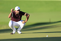 Alexander Levy (FRA) on the 17th green during Saturday's Round 3 of the 2018 Turkish Airlines Open hosted by Regnum Carya Golf &amp; Spa Resort, Antalya, Turkey. 3rd November 2018.<br /> Picture: Eoin Clarke | Golffile<br /> <br /> <br /> All photos usage must carry mandatory copyright credit (&copy; Golffile | Eoin Clarke)
