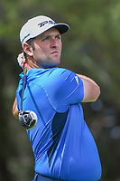 Jon Rahm (ESP) watches his tee shot on 11 during round 2 of the World Golf Championships, Mexico, Club De Golf Chapultepec, Mexico City, Mexico. 2/22/2019.<br /> Picture: Golffile | Ken Murray<br /> <br /> <br /> All photo usage must carry mandatory copyright credit (© Golffile | Ken Murray)