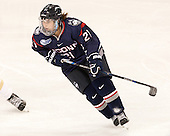 Jordy Zacharias (UConn - 21) - The Boston College Eagles defeated the visiting UConn Huskies 4-0 on Friday, October 30, 2015, at Kelley Rink in Conte Forum in Chestnut Hill, Massachusetts.