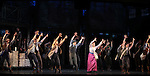 Ensemble Featuring: Ben Fankhauser,  Jeremy Jordan & Kara Lindsay.during the 'NEWSIES' Opening Night Curtain Call at the Nederlander Theatre in New York on 3/29/2012