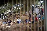 Immigrati nel Centro di prima accoglienza nell'isola di Lampedusa.