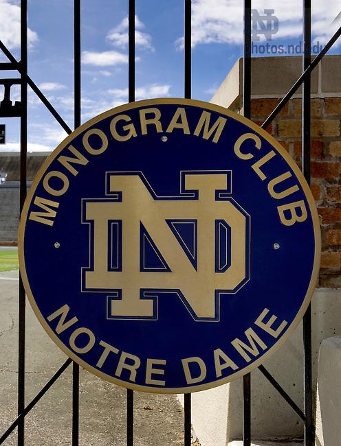 Monogram Club gate at Notre Dame Stadium..Photo by Matt Cashore/University of Notre Dame