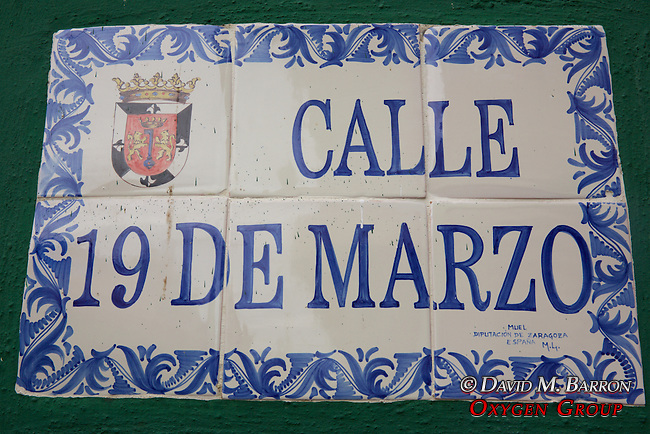 Calle 19th of March Sign