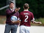 Hearts manager Paulo Sergio and Jamie Hamill