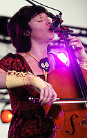 Helen Gillet and friends playing at Voodoo Festival 2010 in New Orleans.
