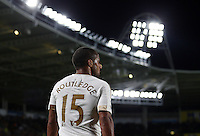Wayne Routledge of Swansea City during the Capital One Cup match between Hull City and Swansea City played at the Kingston Communications Stadium, Hull