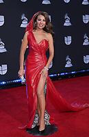 14 November 2019 - Las Vegas, NV - Thalia. 2019 Latin Grammy Awards Red Carpet Arrivals at MGM Grand Garden Arena. Photo Credit: MJT/AdMedia