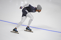 OLYMPIC GAMES: PYEONGCHANG: 09-02-2018, Gangneung Oval, Training session, Shani Davis (USA), ©photo Martin de Jong