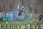 Killarney Celtic vNorth End and the hailstone during their FAI cup clash in Killarney on Sunday.