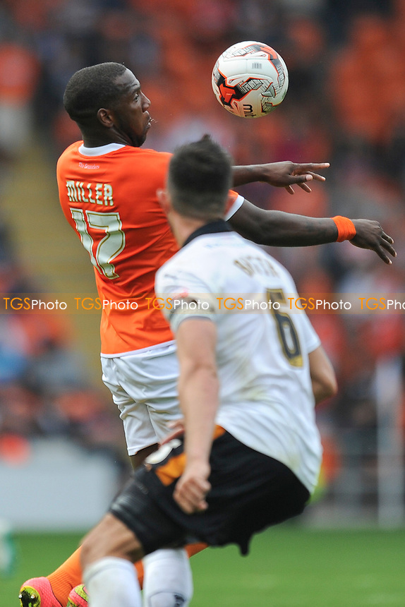 Ishmael Miller of Blackpool controls the ball from Danny Batth of Wolverhampton Wanderers - Blackpool vs Wolverhampton Wanderers - Sky Bet Championship Football at Bloomfield Road, Blackpool, Lancashire - 13/09/14 - MANDATORY CREDIT: Greig Bertram/TGSPHOTO - Self billing applies where appropriate - contact@tgsphoto.co.uk - NO UNPAID USE