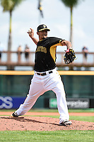 Pittsburgh Pirates pitcher Wilfredo Boscan (69) during the Black & Gold intrasquad game on March 2, 2015 at McKechnie Field in Bradenton, Florida.  (Mike Janes/Four Seam Images)