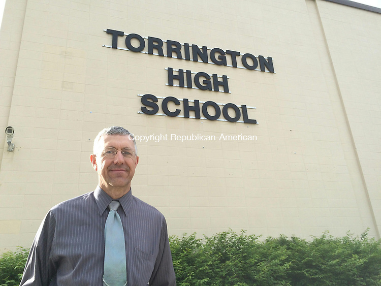 TORRINGTON, CT- 21 May 2015- 052115BJ01-- Torrington High School art teacher Victor Leger was given the top honor in the state for art educators last month. Bruno Matarazzo Jr. Republican-American