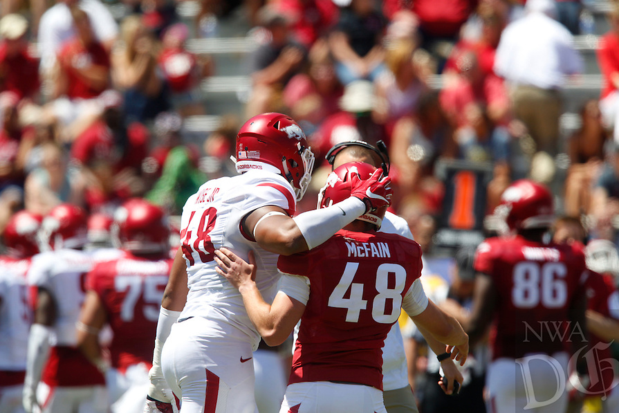 HAWGS ILLUSTRATED JASON IVESTER<br /> Red-White Scrimmage on Saturday, April 23, 2016, at Donald W. Reynolds Razorback Stadium in Fayetteville