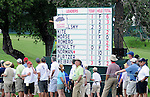 01 August 2008: Fans keep an eye on the sky during the 2nd round of the 2008 US Senior Open Championship at The Broadmoor, Colorado Springs, CO.
