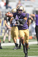 Sept 20, 2014:  Washington's Brian Clay against Georgia State.  Washington defeated Georgia State 45-14 at Husky Stadium in Seattle, WA.