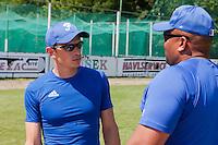 22 June 2011: Team France manager Fabien Proust is seen during AIST Alumni 5-3 win over France, at the 2011 Prague Baseball Week, in Prague, Czech Republic.
