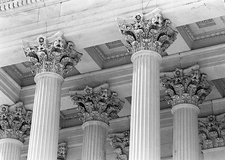 7/16/96.US CAPITOL--Columns on the East Front of the House side..CONGRESSIONAL QUARTERLY PHOTO BY SCOTT J. FERRELL