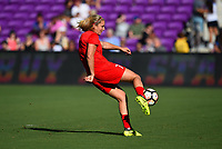Orlando, FL - Saturday October 14, 2017: Lindsey Horan during the NWSL Championship match between the North Carolina Courage and the Portland Thorns FC at Orlando City Stadium.