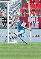 29 June 2013: Toronto FC goalkeeper Joe Bendik #12 in action during an MLS game between Real Salt Lake and Toronto FC at BMO Field in Toronto, Ontario Canada.<br /> Real Salt Lake won 1-0.