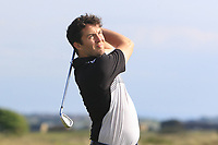 Gerard Dunne (Co. Louth) on the 15th tee during Round 3 of the East of Ireland Amateur Open Championship 2018 at Co. Louth Golf Club, Baltray, Co. Louth on Monday 4th June 2018.<br /> Picture:  Thos Caffrey / Golffile<br /> <br /> All photo usage must carry mandatory copyright credit (&copy; Golffile | Thos Caffrey