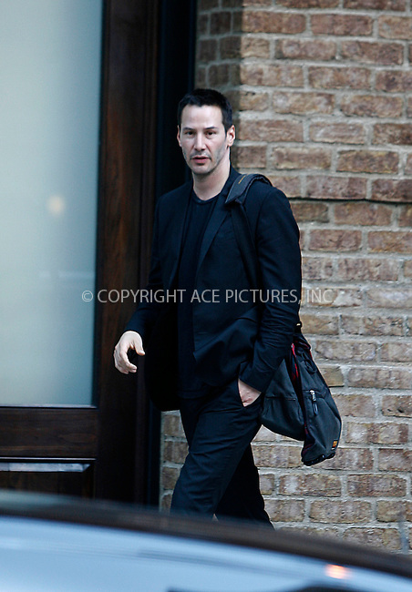 WWW.ACEPIXS.COM . . . . .  ....August 11 2011, New York City....Exclusive - all rounder....Actor Keanu Reeves leaves a downtown hotel on August 11 2011 in New York City....Please byline: CURTIS MEANS - ACE PICTURES.... *** ***..Ace Pictures, Inc:  ..Philip Vaughan (212) 243-8787 or (646) 679 0430..e-mail: info@acepixs.com..web: http://www.acepixs.com