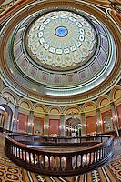 Architectural details of the rotunda at California State Capital Building, Sacramento, California