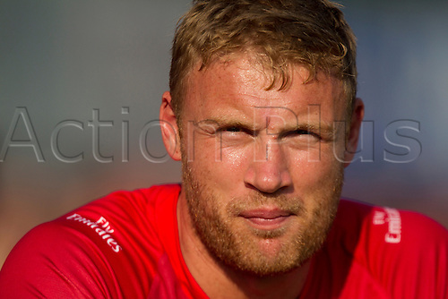 11.07.2014. Leicester, England. NatWest T20 Blast, Leicestershire Foxes vs Lancashire Lightning. A FLINTOFF (Lancashire Lightning) pictured after batting.