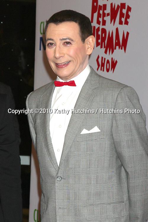 "Paul Reubens aka PeeWee Herman.arriving at the ""The Pee Wee Herman Show"" Opening Night..Club Nokia.Los Angeles, CA.January 20, 2010.©2010 Kathy Hutchins / Hutchins Photo...."